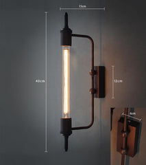 Antique Pencil Bulb Wall Light Measurements