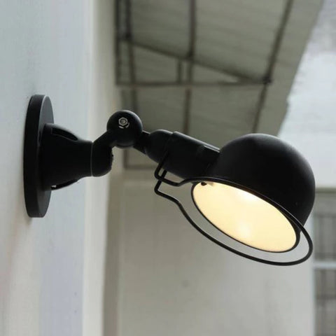Fotis Short Arm Industrial Wall Light