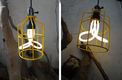 Billy cage yellow industrial hanging lamp