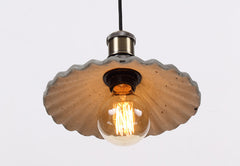 Presto Concrete Fluted Pendant Light - bottom view