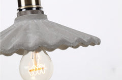 Presto Concrete Fluted Pendant Light - detail view