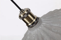 Presto Concrete Fluted Pendant Light - top view