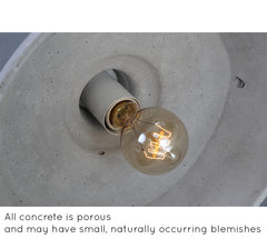 Presto Concrete Fluted Pendant Light - inside view