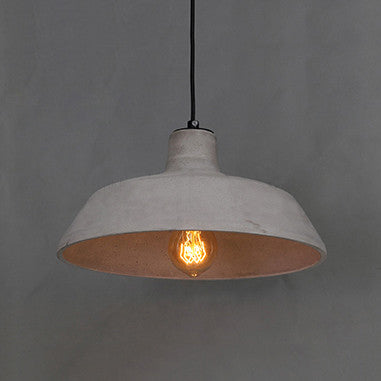 Tromso Vintage Industrial Pendant Light Made With Concrete Cement