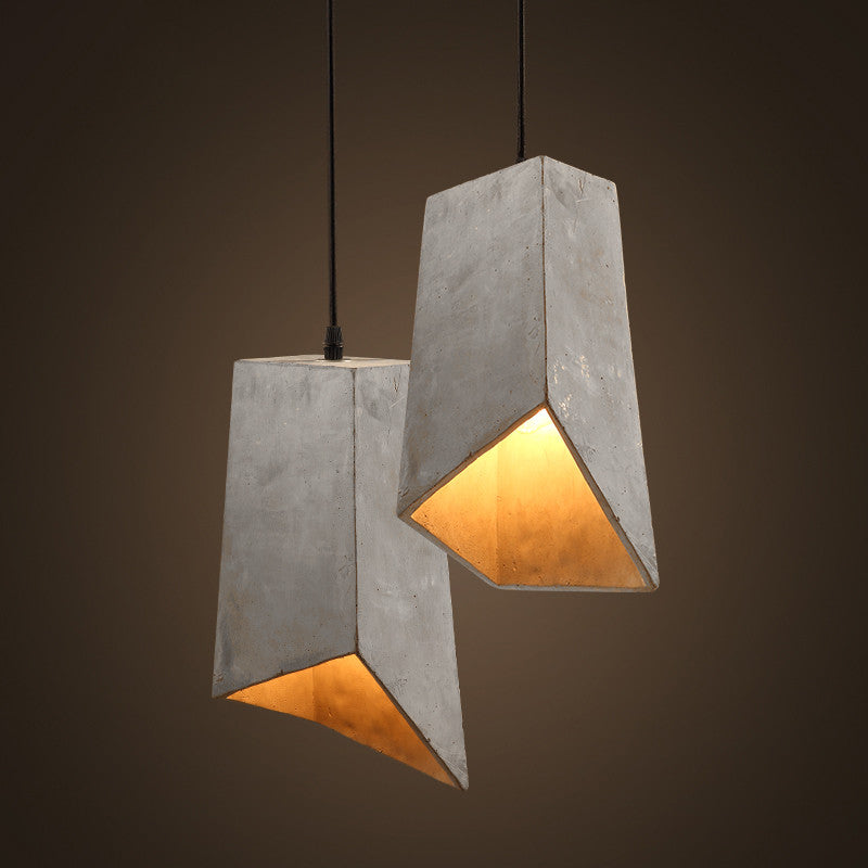 Concrete odense archi pendant light tudo and co for Minimalist house lighting