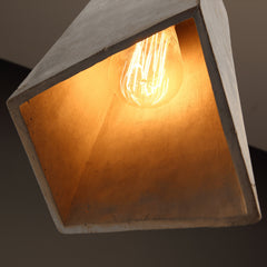 Concrete Odense Archi Minimalist Pendant Light - bottom view