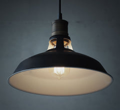Duotone industrial metal shade retro pendant light. Ceiling Light