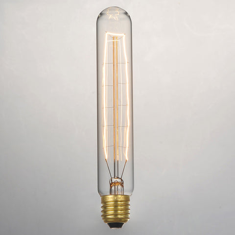 T185 Bulk lot of Short Pencil Edison Filament Light Bulbs (3 or 6 pack)
