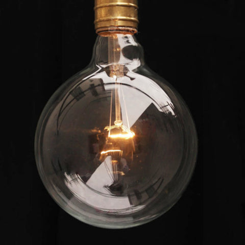 G80 Bulk lot of edison style medium round 40W short filament light bulbs (10 pack)