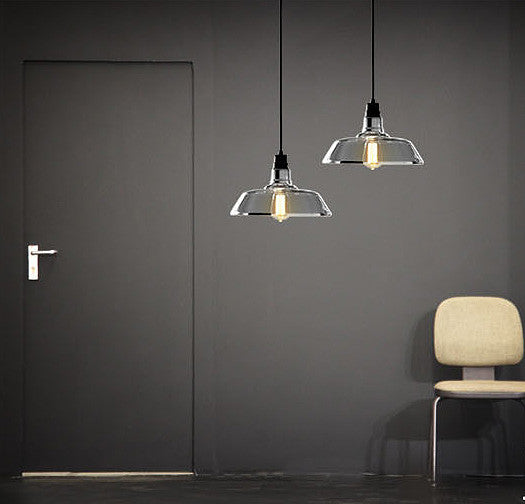 Coated Glass Industrial Pendant Light Tudo And Co