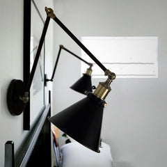 Black Cone Shade Contemporary Loft Wall Light