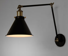 Black Cone Shade Contemporary Loft Wall Lamp