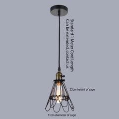 Kaye Wire Cage Industrial Retro Pendant Light