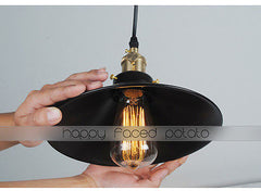 Simple Black Metal Shade Industrial Loft Pendant Light