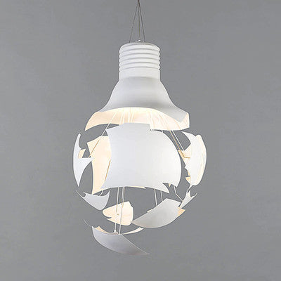 Big bang exploding bulb pendant light