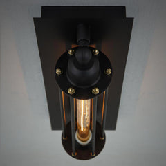 Industrial Retro Long Pencil Bulb Metal Wall Sconce Light