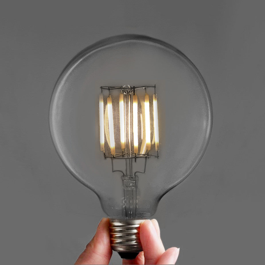LED edison filament bulb 6 Watt G95. 9.5cm Diameter