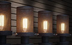 Mesh Iron Pipe Industrial Retro Wall Light