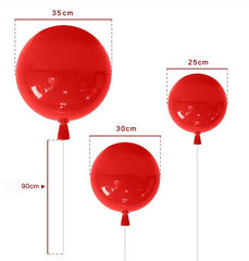Balloon Light For Children's Room - measurements