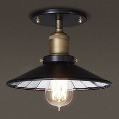 Black mirror shade ceiling light