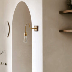 Ogilvy Wood Brass Wall Light