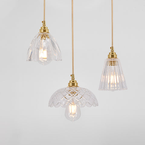 Betty Glass Mid Century Pendant Light