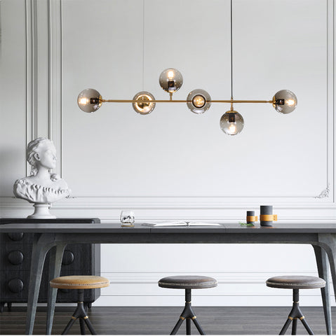 Olive Tree Branch Line Chandelier