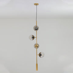 Olive Tree Branch Line Chandelier vertical off