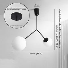Yuli Minimalist 2 Head Branch Pendant Light