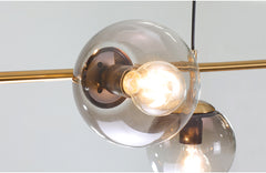 Olive Tree Branch Line Chandelier details light bulb