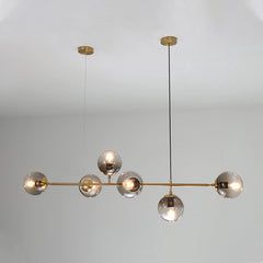 Olive Tree Branch Line Chandelier in studio on