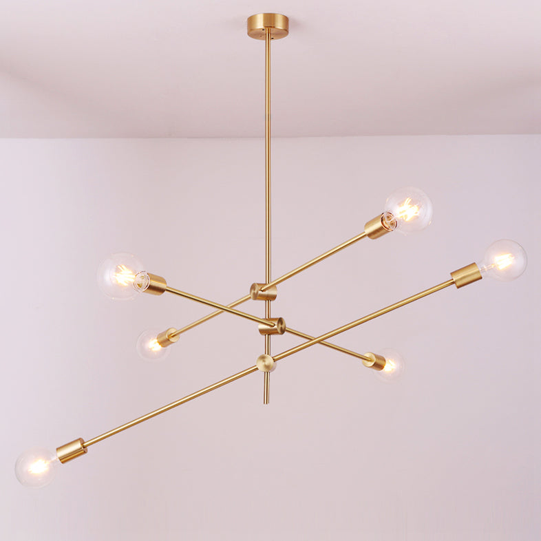 Circa Brass Pendant Light - 3 lines 6 heads main picture