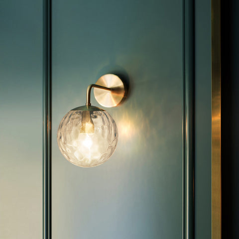 Pomelo Art Deco Glass Ball Wall Light