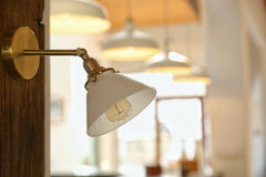 Alabaster White Shade Wall Light
