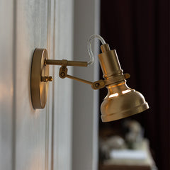 Mill House Brass Wall Light
