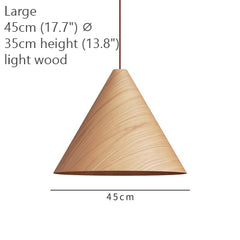 Geppetto Wooden Cone Pendant Light