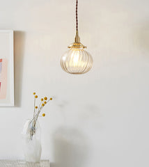 Vintage Anemone Glass Ball Pendant Light
