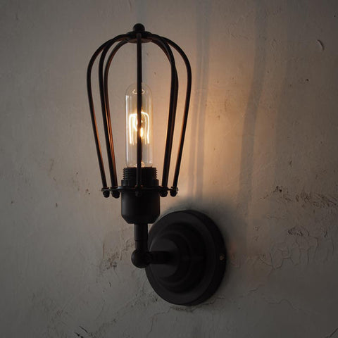 Pear Metal Cage Black Wall Sconce Light & Wall Light / Wall Sconce u2013 Tudo And Co