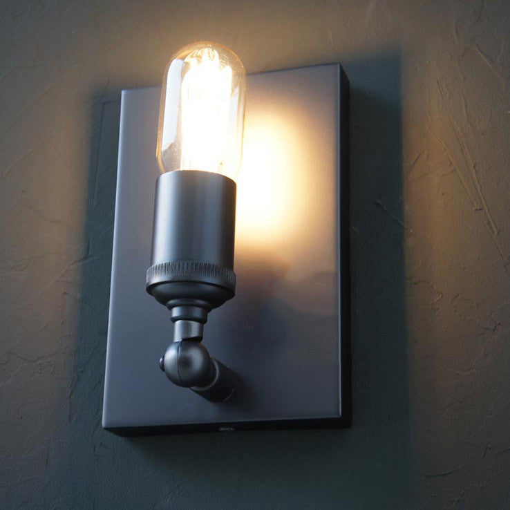 Simple Rectangle Industrial Styled Wall Sconce Light