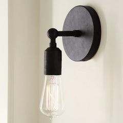 Basic L Arm Wall Light in Black or Rustic