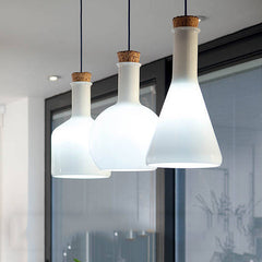 Lab White Glass Bottle Modern Minimalist Pendant Light Benjamin Hubert Replica