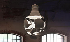 Big bang exploding bulb pendant light in room