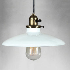 Shallow Plate Vintage Retro Pendant Light