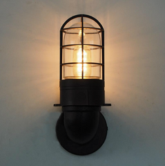 Classic Bunker Industrial Wall Light Sconce Front view