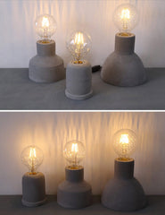 concrete cement minimalist table light
