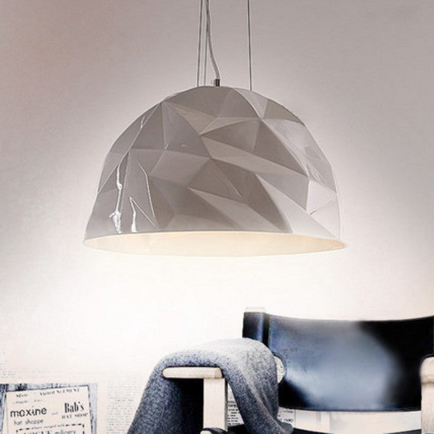 Semi Circular Glacier Pendant Light