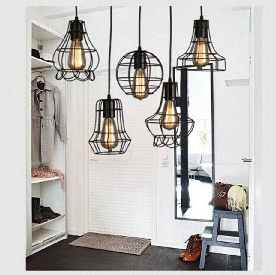 Rustic Wire Cage Industrial Pendant Ceiling Light: tudo and co ...