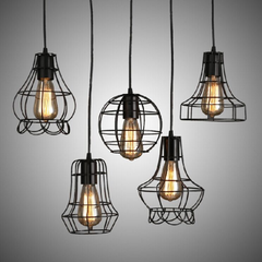 Rustic Wire Cage Industrial Pendant Ceiling Light