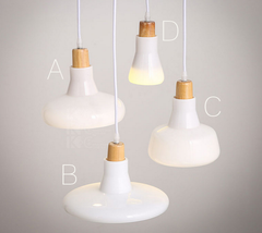 White Milky Glass Shade LED Pendant Light