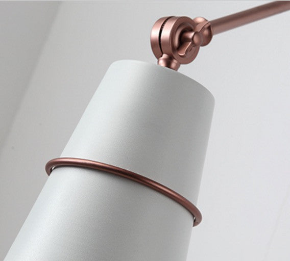 Sketch ringed wall light sconce - white and rose gold - Tudo and Co Tudo And Co